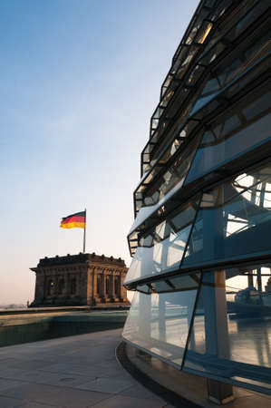 03 October 2010, Berlin, Germany: The dome of the Reichstag, sitting on top of the German Parliament in Berlin.