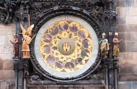 The Astronomical Clock in Pragues Old Town Square, built in the 15th century, sounds off every hour.