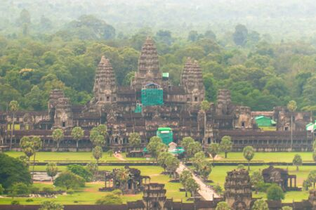 The 11th century Angkor Wat in Siem Reap, Cambodia is the largest religious monument in the world photo
