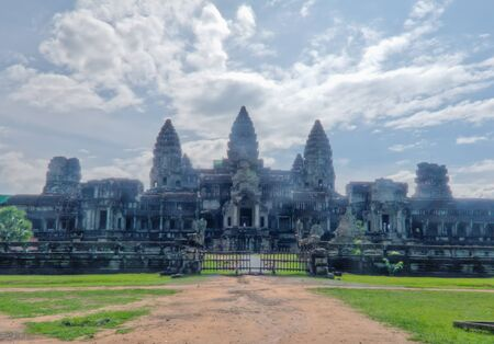 The 11th century Angkor Wat in Siem Reap, Cambodia is the largest religious monument in the world