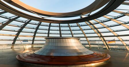 3 October 2010, Berlin, Germany: The open celing of the Reichstag dome. Editorial