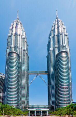 kuala lumpur tower: Kuala Lumpur, 14 April 2010: The shining twin towers are a symbol of modern Malaysia.