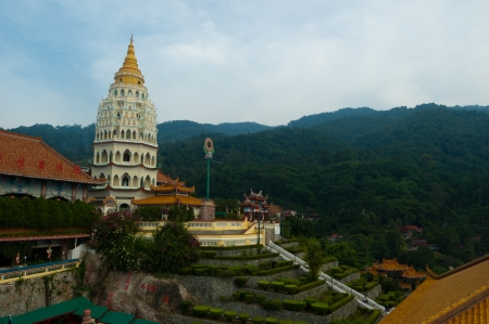 Kek Lok Si is the largest Buddhist temple complex in Southeast Asia, located in Penang, Malaysia.