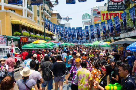 straat feest: Songkran straatfeest Redactioneel