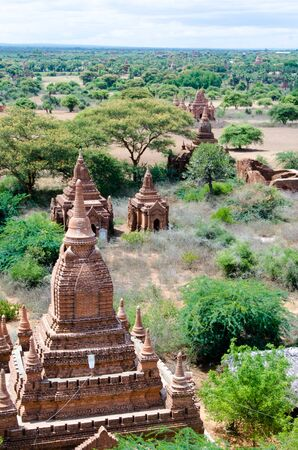 dome of hindu temple: The plain of Bagan is dotted with ancient temples from the 11th century. Stock Photo