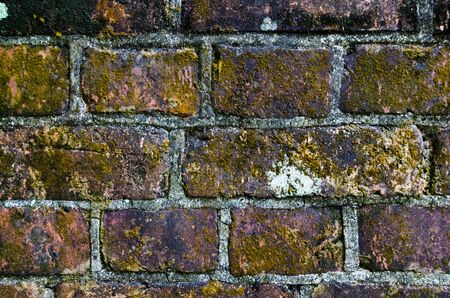 Textured brick wall from colonial-period buildings in Singapore. Stock Photo