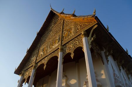 The ordination hall of Wat That Luang, the iconic temple of Laos.