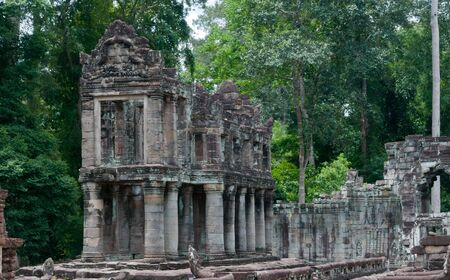 The sandstone temple of Preah Kahn, part of the Angkor temple complex