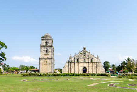 Church of San Agustin, Paoay is part of the Unesco-listed Baroque churches of the Philippines Stock Photo