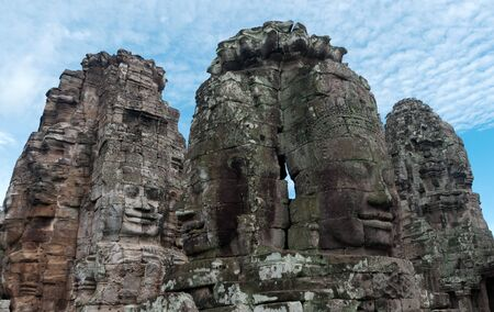 One of the many towers of the Bayon, containging the carved face of King Jayavarman VII