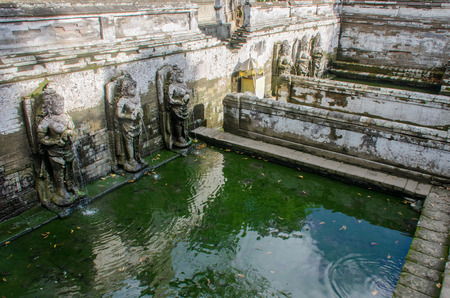 Bathing pools outside the cave temple of Goa Gajah in Bali, Indonesia