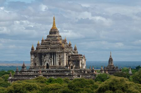 Built in the 12th century, Thatbyinnyu Temple is one of the more magnificent temples of Bagan Stock Photo
