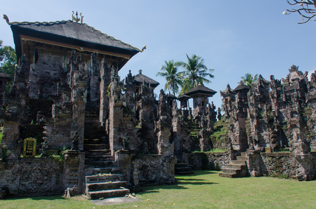 Located in Beleleng regency in north Bali, Pura Beji is an exeptional temple as it is almost entirely covered with carvings Stock Photo