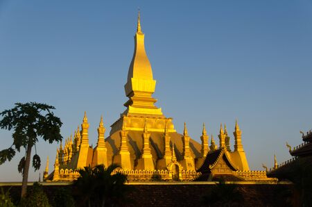 The golden temple and national landmark of Lao