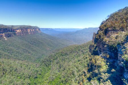 The Blue Mountains National Park in New South Wales, Australia is so-named because the Eucalyptus trees on the range give the mountains their distinctive blue sheen