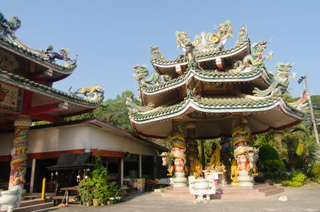A Chinese-style temple dedicated to the goddess Kuan Im in Chiang Mai Stock Photo