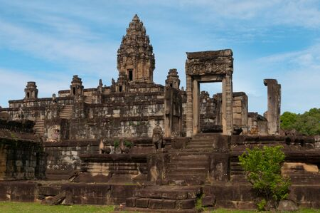 The Bakong temple is part of the Roulos group of temples and one of the early capitals of Cambodia
