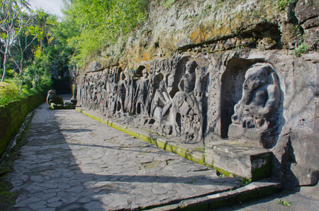 Dating to the 14th century, the rock carvings at Yeh Pulu are set beside rice paddies