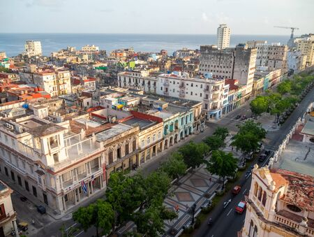 The first European-style promenade, Paseo del Prado, is the boundary between Central Havana and Old Havana