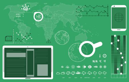 worl: Technologic infographic worl