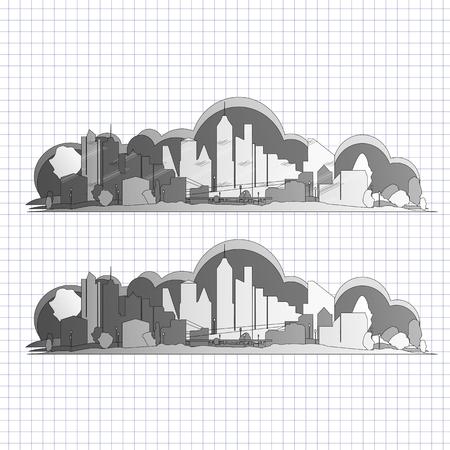city background: City skyline vector background
