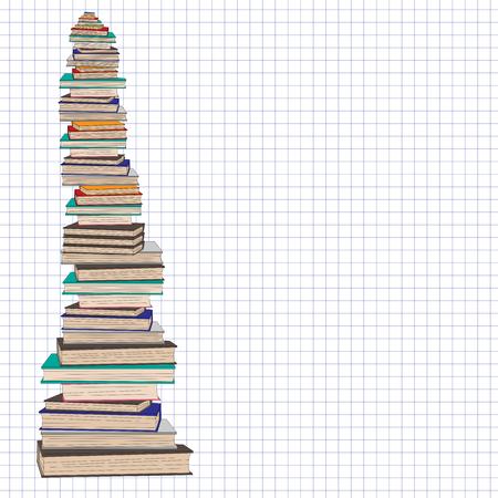 pile: Pile of school books