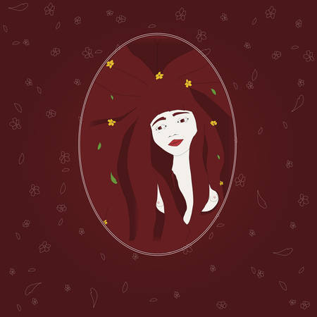 red hair: Beauty red hair woman
