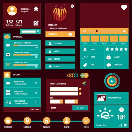 Social user interface Иллюстрация