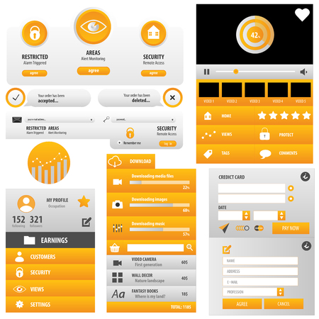 Security user interface yellow