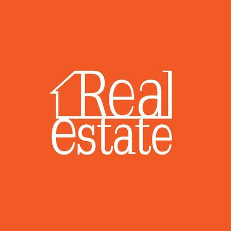 real estate: Real Estate orange logo Illustration