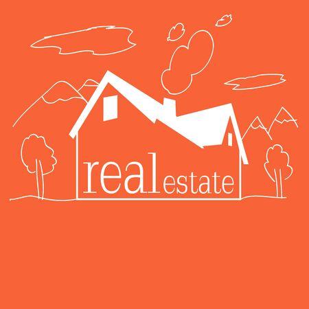 Kids Real estate background for business Ilustração