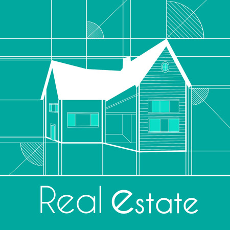 Real estate blue background for business