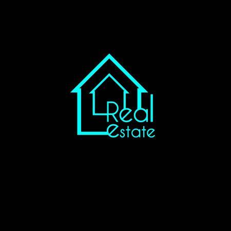 Blue light house logo for Real Estate