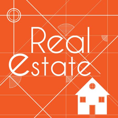Real estate logo for business background Ilustração