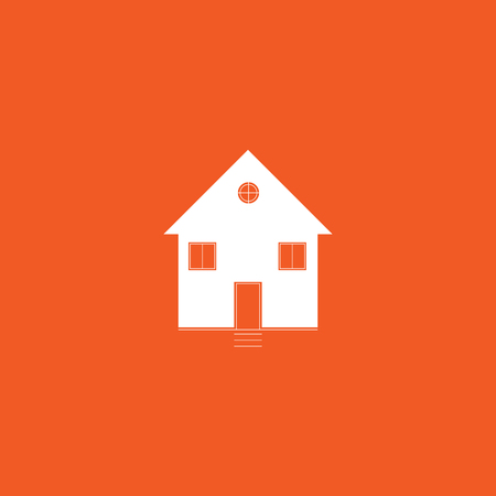 Flat house vector background