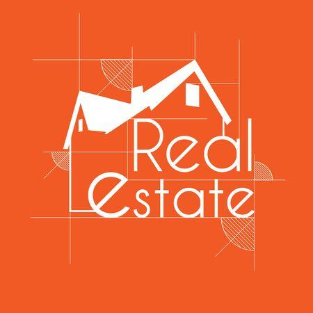 Real estate logo Orange skit