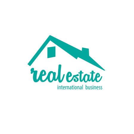 Tło białe nieruchomości logo Logo