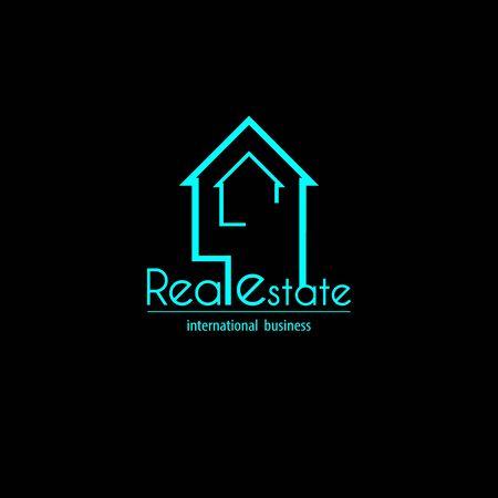 Light blue Real estate logo Ilustração