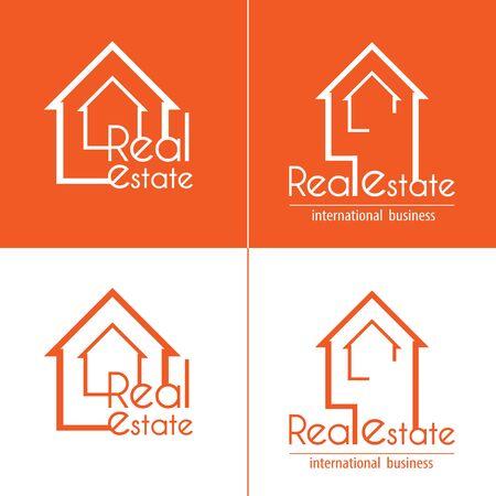 Real Estate set of business logos Ilustração