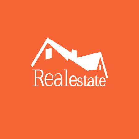 estate: Orange Real estate background