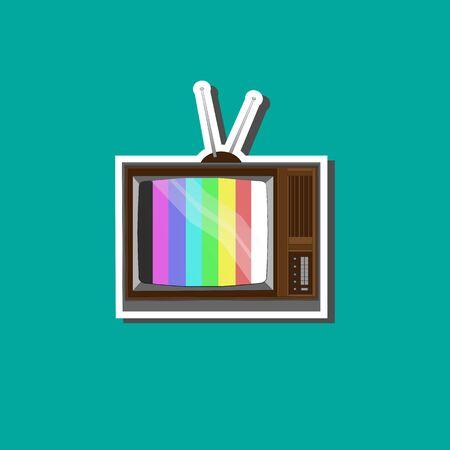 old tv: Old tv background for business Illustration