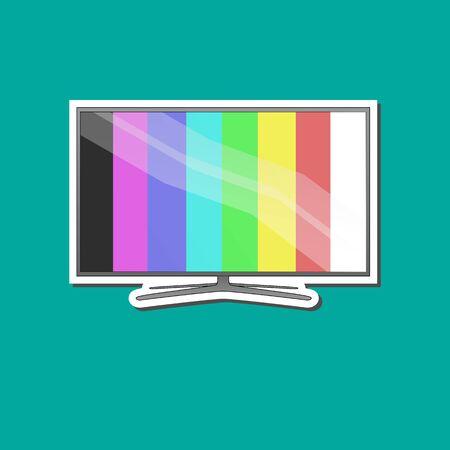 Modern tv background Ilustrace