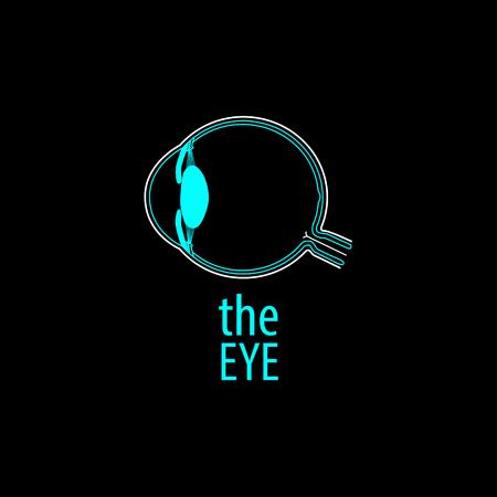 diopter: Eye logo background