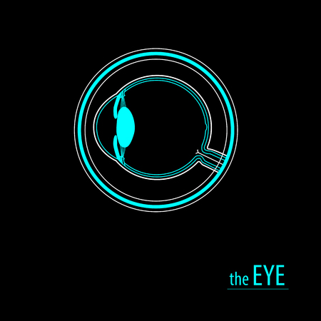 diopter: Eye logo background for business