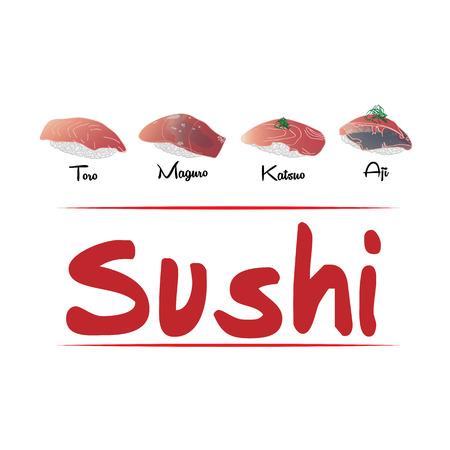 魚寿司背景