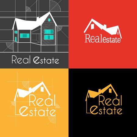 Real Estate house background in September Ilustração