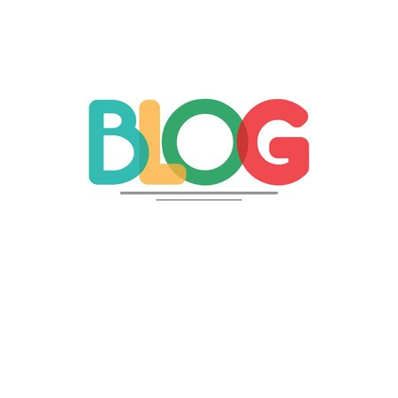 Colorful background blog business