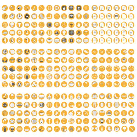 Big set of icon for markets Illustration