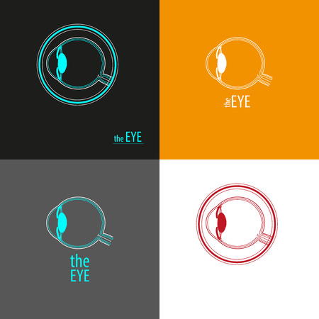 diopter: The Eye logo background Illustration