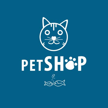 Pet shop blue background